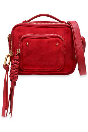 383a494276 SEE BY CHLOÉ Patti leather-trimmed suede shoulder bag