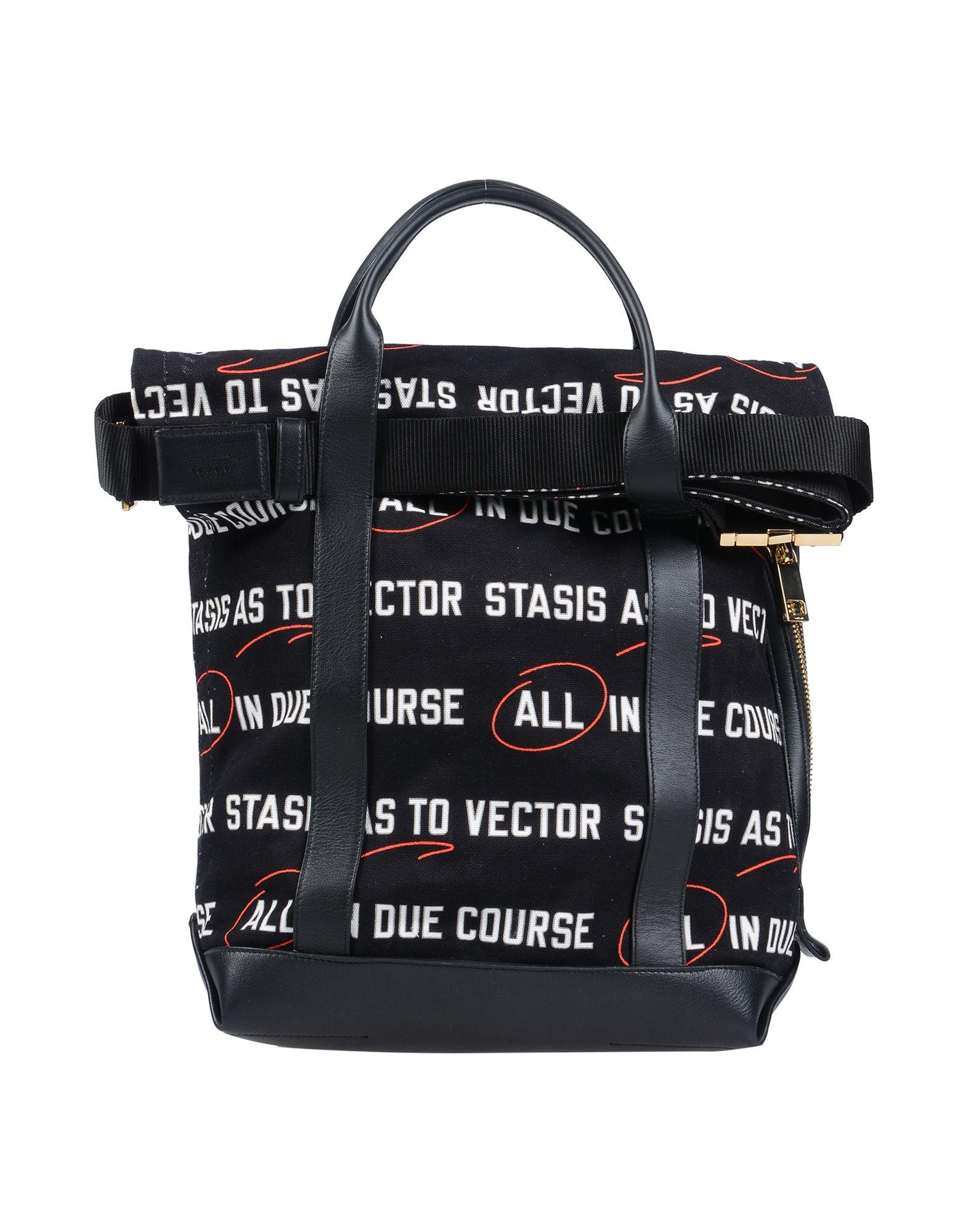 《送料無料》SACAI レディース 肩掛けバッグ ブラック 紡績繊維 / 革
