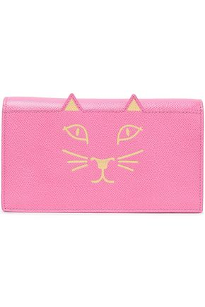 CHARLOTTE OLYMPIA Printed textured-leather clutch