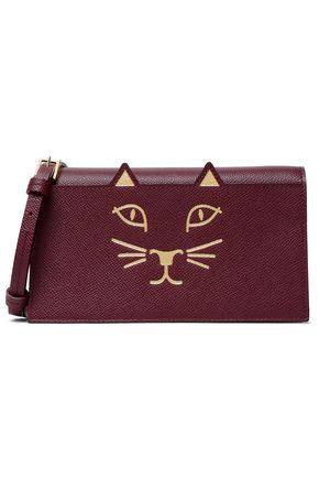 CHARLOTTE OLYMPIA Long Feline printed leather clutch
