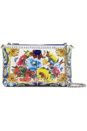 DOLCE & GABBANA Printed textured-leather clutch