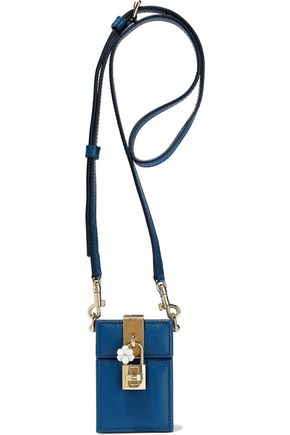 DOLCE & GABBANA Dolce Box Cinderella textured-leather shoulder bag
