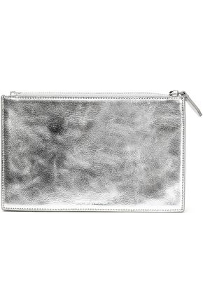LOEFFLER RANDALL Metallic leather clutch