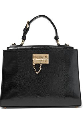 DOLCE & GABBANA Monica lizard-effect leather shoulder bag