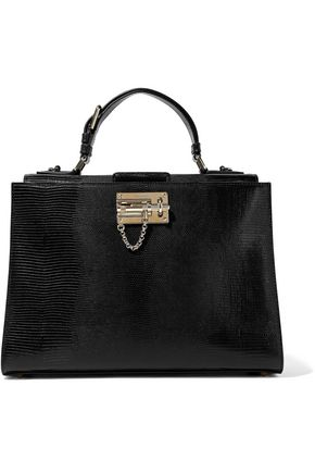 DOLCE & GABBANA Monica lizard-effect leather tote