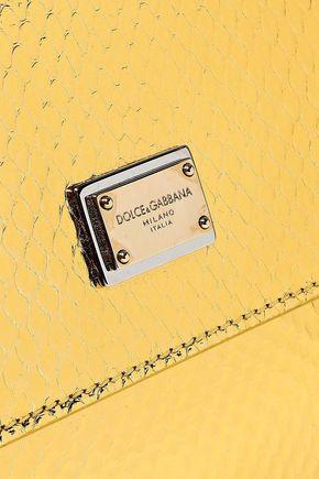 DOLCE & GABBANA Metallic python shoulder bag