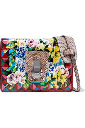 DOLCE & GABBANA Printed leather shoulder bag