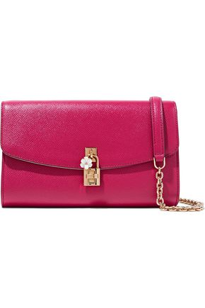 DOLCE & GABBANA Textured-leather clutch