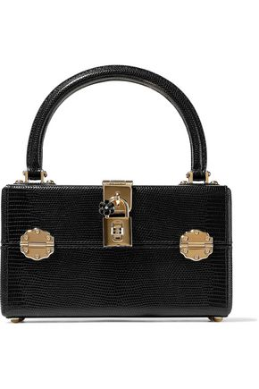 DOLCE & GABBANA Dolce Box Vanity lizard-effect leather tote