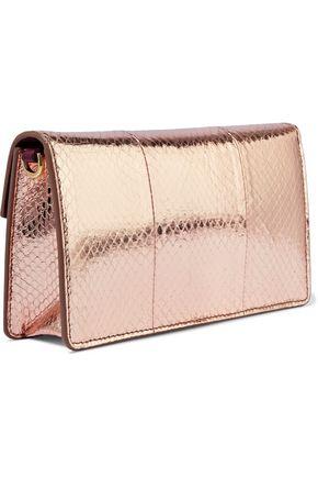 DOLCE & GABBANA Lucia snake-effect mirrored-leather shoulder bag