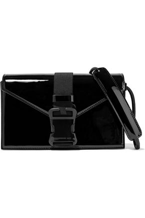 CHRISTOPHER KANE Devine buckled patent-leather shoulder bag