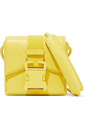 CHRISTOPHER KANE Mini buckled textured-leather shoulder bag