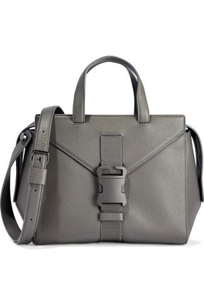 CHRISTOPHER KANE Mini Marshall buckled textured-leather shoulder bag