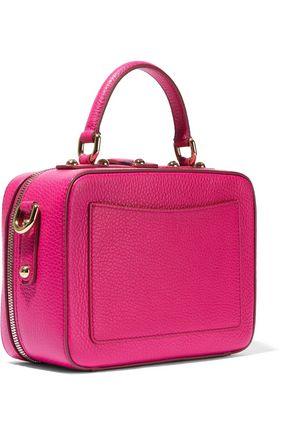 DOLCE & GABBANA #DG appliquéd textured-leather shoulder bag