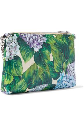 DOLCE   GABBANA Floral-print textured-leather clutch 3664ef56e0e64