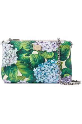 0cd8dbd665 DOLCE   GABBANA Floral-print textured-leather clutch