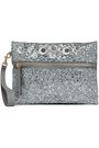 ANYA HINDMARCH Appliquéd glittered PVC pouch