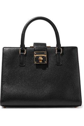 DOLCE & GABBANA Rosalia textured-leather shoulder bag