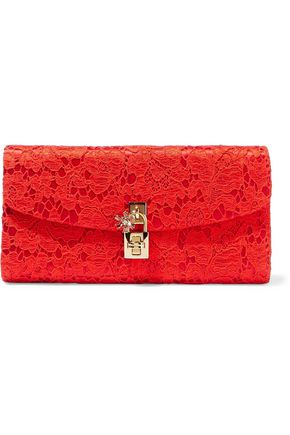 DOLCE & GABBANA Corded lace clutch