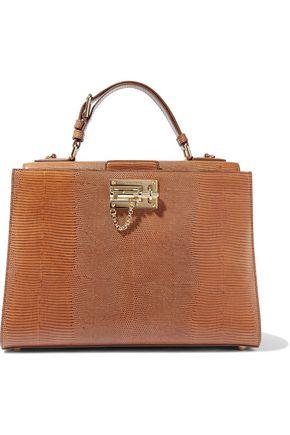Dolce Gabbana Monica Lizard Effect Leather Tote