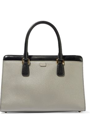 DOLCE & GABBANA Eva color-block textured-leather tote