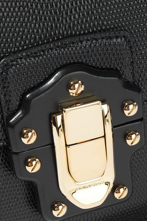 DOLCE & GABBANA Lizard-effect leather clutch