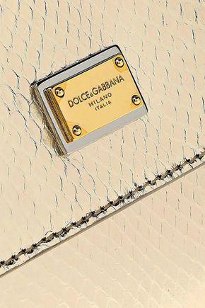 DOLCE & GABBANA Sicily metallic python shoulder bag