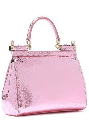 1536fe88b337 DOLCE   GABBANA Sicily mini mirrored-python shoulder bag
