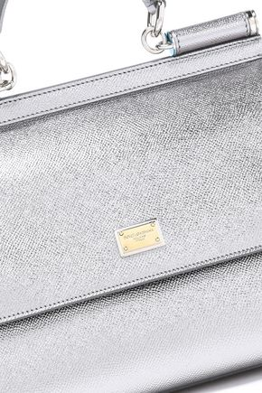 DOLCE & GABBANA Metallic textured-leather shoulder bag