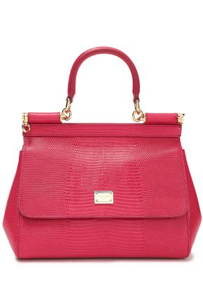 DOLCE & GABBANA Lizard-effect leather shoulder bag