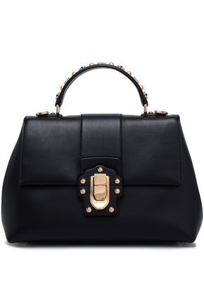 DOLCE & GABBANA Embellished leather tote