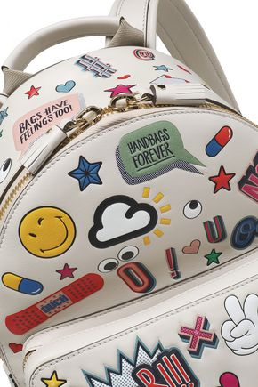 ANYA HINDMARCH Printed leather backpack
