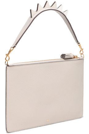 ANYA HINDMARCH Appliquéd pebbled-leather pouch