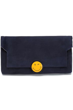 ANYA HINDMARCH Embellished suede clutch