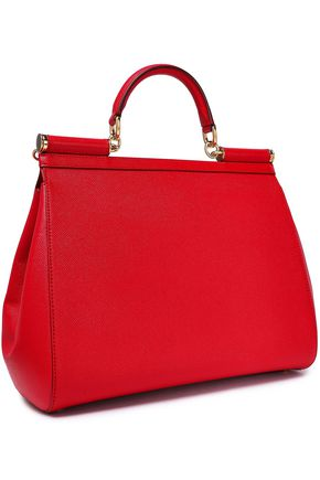 DOLCE & GABBANA Textured-leather tote