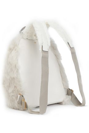 ANYA HINDMARCH Shearling and leather backpack