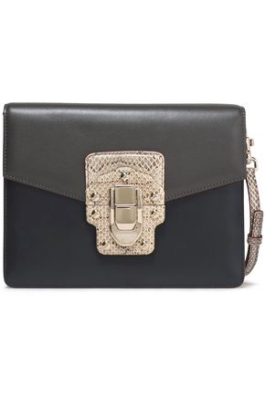 DOLCE & GABBANA Ayers-trimmed leather shoulder bag