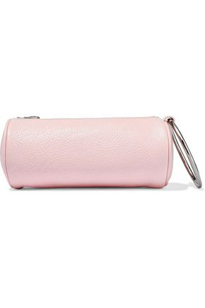 KARA Duffel textured-leather clutch