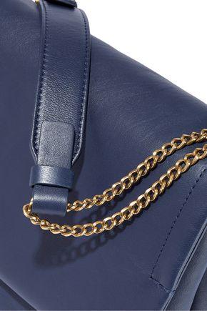 LANVIN Chain-trimmed leather shoulder bag