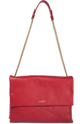 LANVIN Chain-trimmed leather shoulder bag