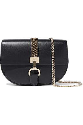 LANVIN Lien chain-trimmed leather shoulder bag