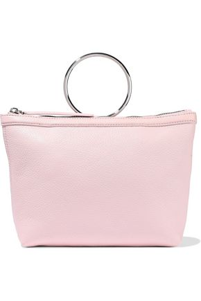 KARA Pebbled-leather clutch
