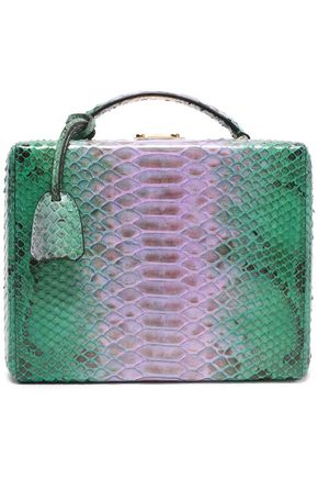MARK CROSS Grace two-tone python shoulder bag