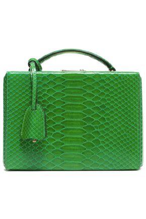 MARK CROSS Grace python shoulder bag