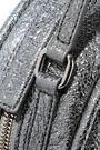 KARA Metallic cracked-leather shoulder bag
