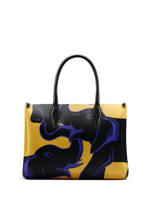 "SMALL ELEPHANT-PRINT ""JOURNÉE"" BAG - Lanvin"