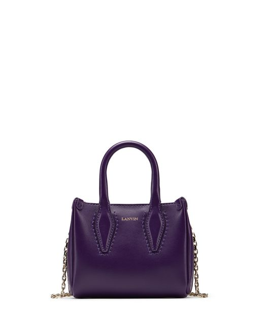 "MICRO DARK PURPLE ""JOURNÉE"" BAG - Lanvin"