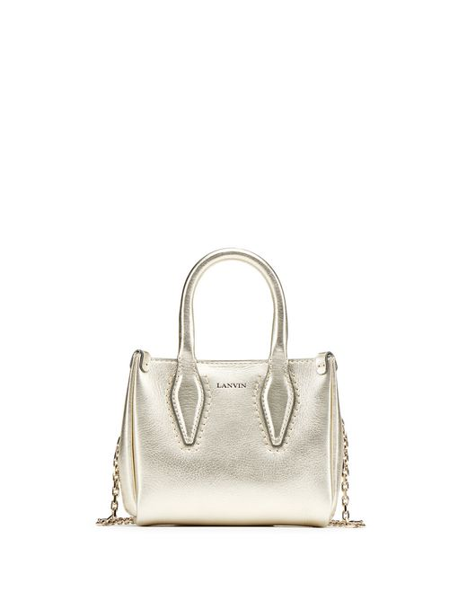 "MICRO PALE GOLD ""JOURNÉE"" BAG - Lanvin"