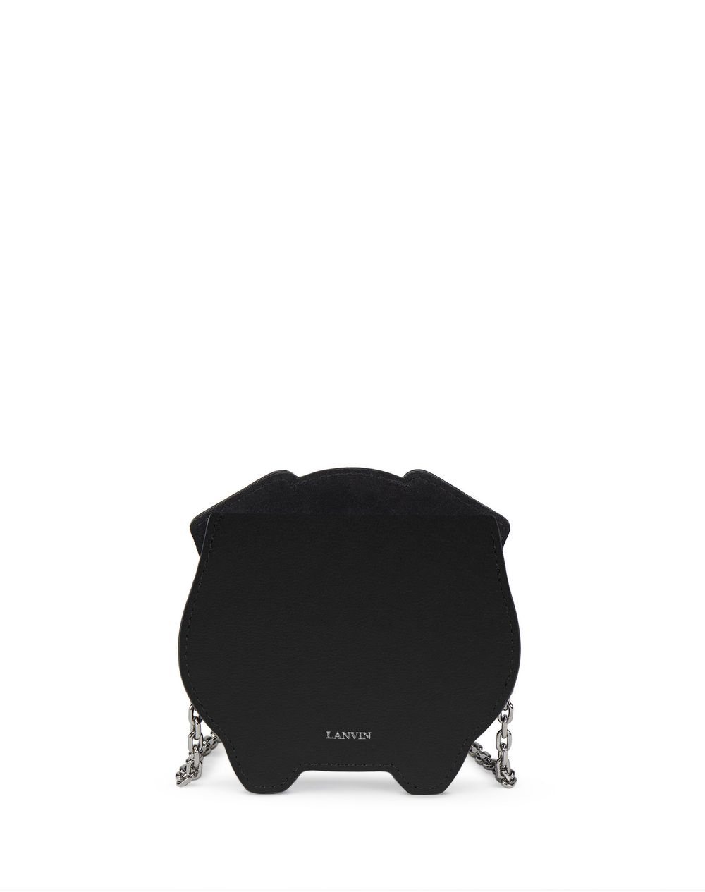 BLACK EMBROIDERED COIN PURSE BAG - Lanvin