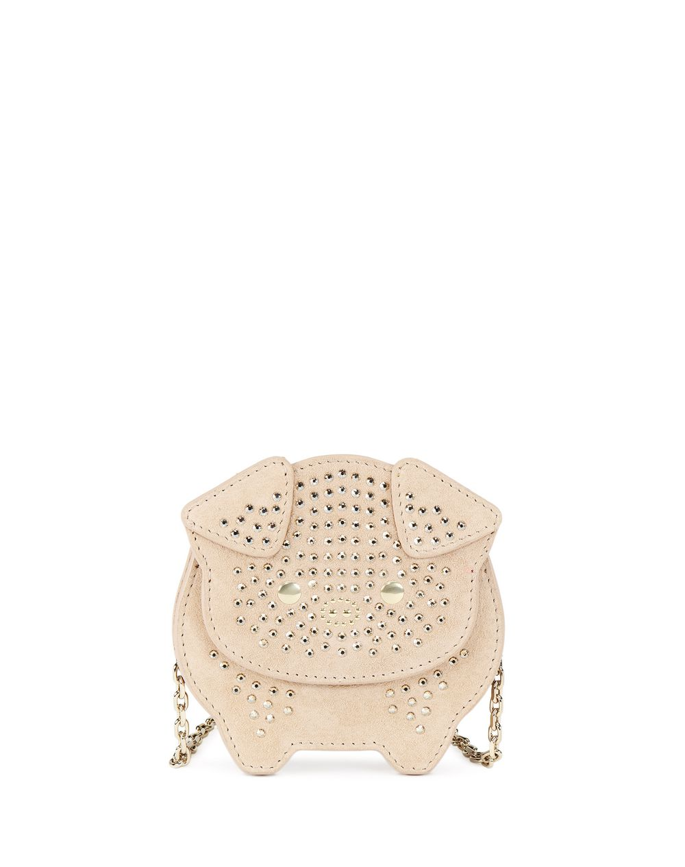 PALE GOLD EMBROIDERED COIN PURSE BAG - Lanvin